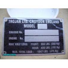 Chassis Plate (Only supplied pre stamped) [N-10:09A-Car-NE]