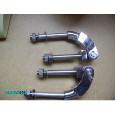Complete Door hinge in polished stainless sold as a pair [N-14:19-Car-NE]