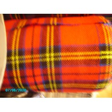 Seat Covering, Original Red Tartan, Price per 0.5 meter [N-23:A-Car-NE]