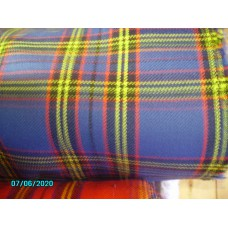 Seat Covering, Original Blue Tartan, Price per 0.5 meter [N-23:B-Car-NE]