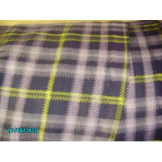 Green Lincoln Plaid  Material for seat covers   Price per 0.5metre [N-23:C-Car-NE]