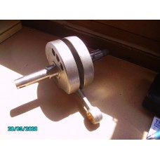 175cc Crankshaft complete with con rod.  Exchange early 3 bearing model [N-02:01-175-RE]