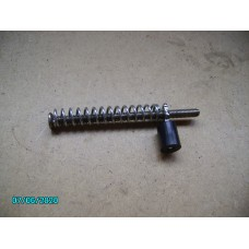 Adjusting screw complete with spring and rubber mounting [N-20:01D-Car-NE]