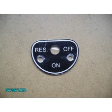 Fuel Tap Plate (On - Off -Res) [N-22:04A-Car-NE]