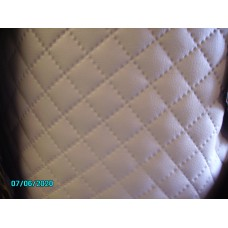 Quilted vinyl material small diamond light grey  similar to early Trojan, metre [N-22:06/07C] 0.5m