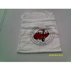 T shirt ex large white with car logo in red